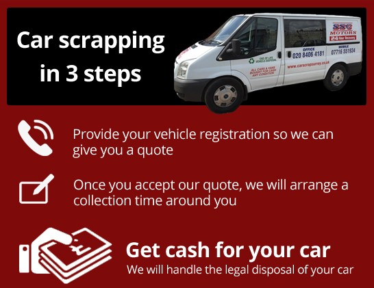 Pickup my car & take to scrapyard